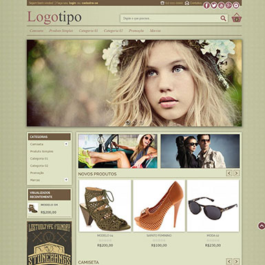 Loja Virtual Magento Pronta Com Layout Estilo Vintage